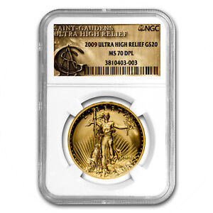 Click now to see the BUY IT NOW Price! 2009 ULTRA HIGH RELIEF GOLD DOUBLE EAGLE MS 70 DPL NGC   SKU 95968