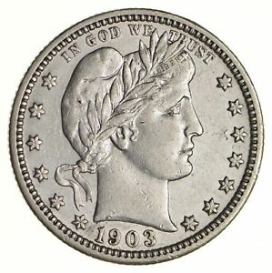 1903 BARBER QUARTER   NEAR UNCIRCULATED  6845