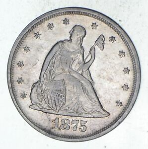 1875 SEATED LIBERTY TWENTY CENT PIECE   CHOICE  9557