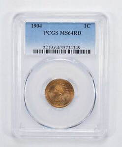 MS64 RD 1904 INDIAN HEAD CENT   PCGS GRADED  3032