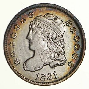 1831 CAPPED BUST HALF DIME LM 2   CIRCULATED  6285