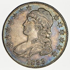 1833 CAPPED BUST HALF DOLLAR   CIRCULATED  0107