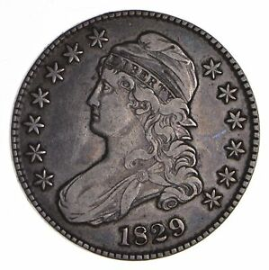 1829 CAPPED BUST HALF DOLLAR   CIRCULATED  9043