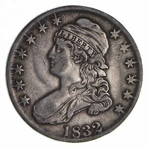 1832 CAPPED BUST HALF DOLLAR   CIRCULATED  9047