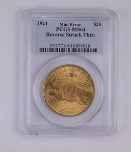 MS64 1924 $20 SAINT GAUDENS GOLD DOUBLE EAGLE   OLD HOLDER   PCGS GRADED  7803