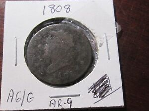 1808 LARGE CENT   CLASSIC HEAD TYPE    AG/GOOD COND   EARLY DATE
