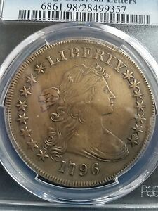 1796 DRAPED BUST DOLLAR PCGS XF DETAILS LOW MINTAGE