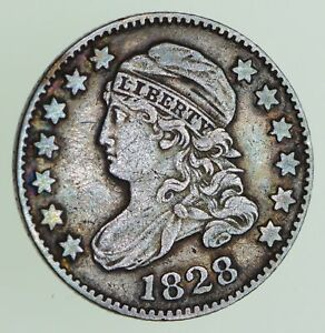1828 CAPPED BUST DIME   CIRCULATED  7196