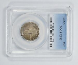 XF40 1923 S STANDING LIBERTY QUARTER   PCGS GRADED  5492