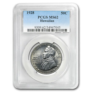 Click now to see the BUY IT NOW Price! 1928 HAWAIIAN SESQUICENTENNIAL HALF DOLLAR MS 62 PCGS   SKU178814
