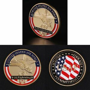 UNITED STATES AIR FORCE F 35 FIGHTER COMMEMORATIVE COINS FOR MILITARY FUNS