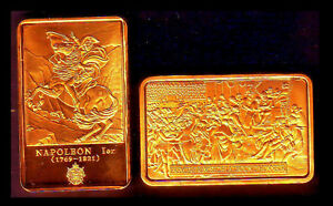 GOLD PLATED BAR : NAPOLEON AND THE FIRST LEGION D'HONNEUR