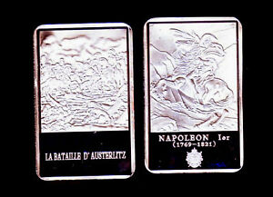 SILVER PLATED BAR : NAPOLEON AND THE BATTLE OF AUSTERLITZ