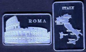 SILVER PLATED BAR : ROME : COLISEUM GLADIATORS ITALY