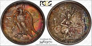 Click now to see the BUY IT NOW Price! 1935 D TEXAS COMMEMORATIVE PCGS MS67    PQ     FIERY TONED COLOR   LOW POP