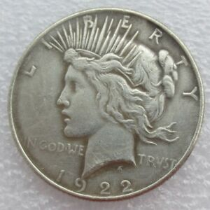 1922 PEACE LIBERTY COMMEMORATIVE COIN AMERICAN EAGLE COINS COLLECTIONS CRAFT
