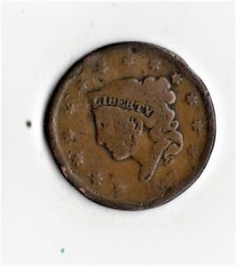 1837 LARGE PENNY EARLY DATE NICE DETAIL  COLOR