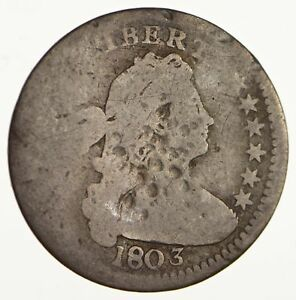 1803 DRAPED BUST HALF DIME   CIRCULATED  1702