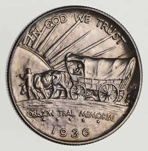 1936 OREGON TRAIL COMMEMORATIVE HALF DOLLAR   CHOICE  7162