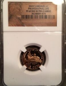 2009 S BRONZE LINCOLN CENT PROFESSIONAL LIFE NGC PF 69 RD ULTRA CAMEO