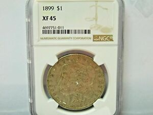 1899 SILVER MORGAN DOLLAR NGC GRADED XF45  NGC