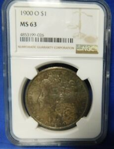 1900 0 $1 MORGAN SILVER DOLLAR NGC MS63