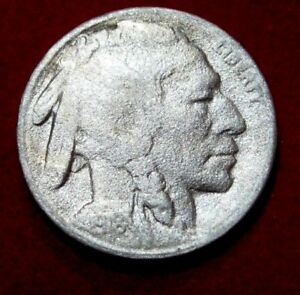 1918 S  BUFFALO NICKEL VF DETAILS RB2616 49 CENT SHIPPING ON 3
