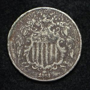 1868 SHIELD NICKEL CORRODED  BB2135