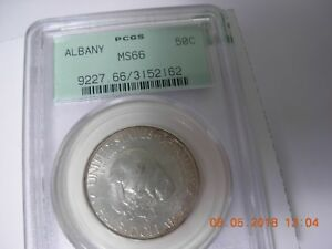 OLD GREEN 1936  ALBANY PCGS GRADED MS 66