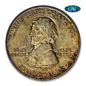 1925 VANCOUVER COMMEMORATIVE NGC OH MS66 CAC   PQ     TONED COLOR    X TO PCGS