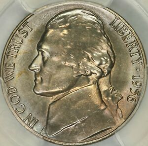 Click now to see the BUY IT NOW Price! 1956 JEFFERSON NICKEL PCGS MS67FS
