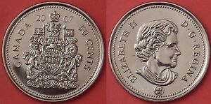 BRILLIANT UNCIRCULATED 2007 CANADA 50 CENTS FROM MINT'S ROLL
