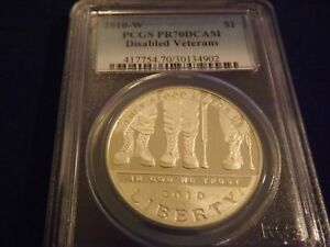 Click now to see the BUY IT NOW Price! 2010 W   $1 DISABLED VETERANS PCGS PR 70 DCAM