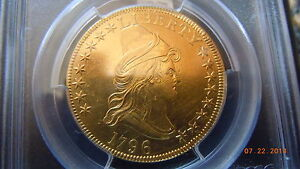Click now to see the BUY IT NOW Price! 1796 DRAPED BUST 10.00 GOLD SMALL EAGLE PCGS AU DETAILS  4146 MINTED