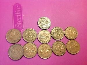1940 49 CANADA CENTS CANADIAN PENNIES   11 DIFFERENT   WITH THE 47 MAPLE LEAF