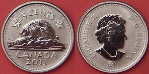 SPECIMEN 2011 CANADA 5 CENTS FROM MINT'S SET