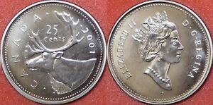 SPECIMEN 2001P CANADA 25 CENTS FROM MINT'S SET