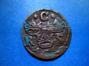 SWEDEN 1/4 ORE 1635 CHRISTINA BETTER GRADE