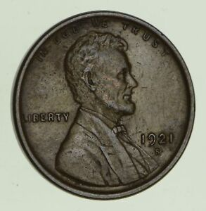 1921 S LINCOLN WHEAT CENT   SHARP  8657