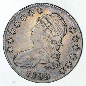 1829 CAPPED BUST HALF DOLLAR   CIRCULATED  9287