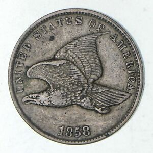 1858 FLYING EAGLE CENT   CIRCULATED  9172