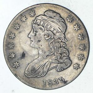 1835 CAPPED BUST HALF DOLLAR   CIRCULATED  9290