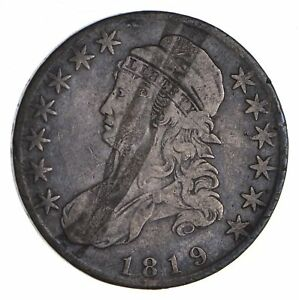 1819 CAPPED BUST HALF DOLLAR   CIRCULATED  9066