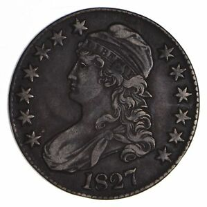 1827 CAPPED BUST HALF DOLLAR   CIRCULATED  9053
