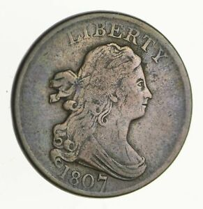 1807 DRAPED BUST HALF CENT   CIRCULATED  2798