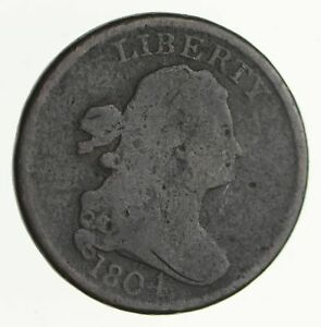 1804 DRAPED BUST HALF CENT   CIRCULATED  4052