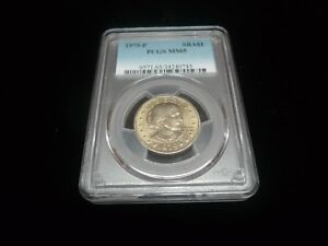 SUSAN B. ANTHONY DOLLAR 1979 P PCGS MS65 GRADED COIN