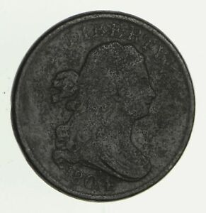 1804 DRAPED BUST HALF CENT   CIRCULATED  2801