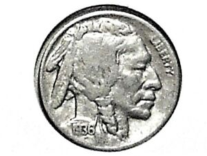 1936S BUFFALO NICKEL FINE 80  HORN