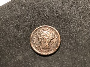 1840 LG DATE BRAIDED HAIR LARGE CENT COIN 1 CENT ROUGH SHAPE